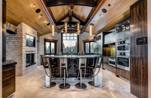 Canmore Luxury Custom Home Kitchen by Style Developments in Canmore Alberta