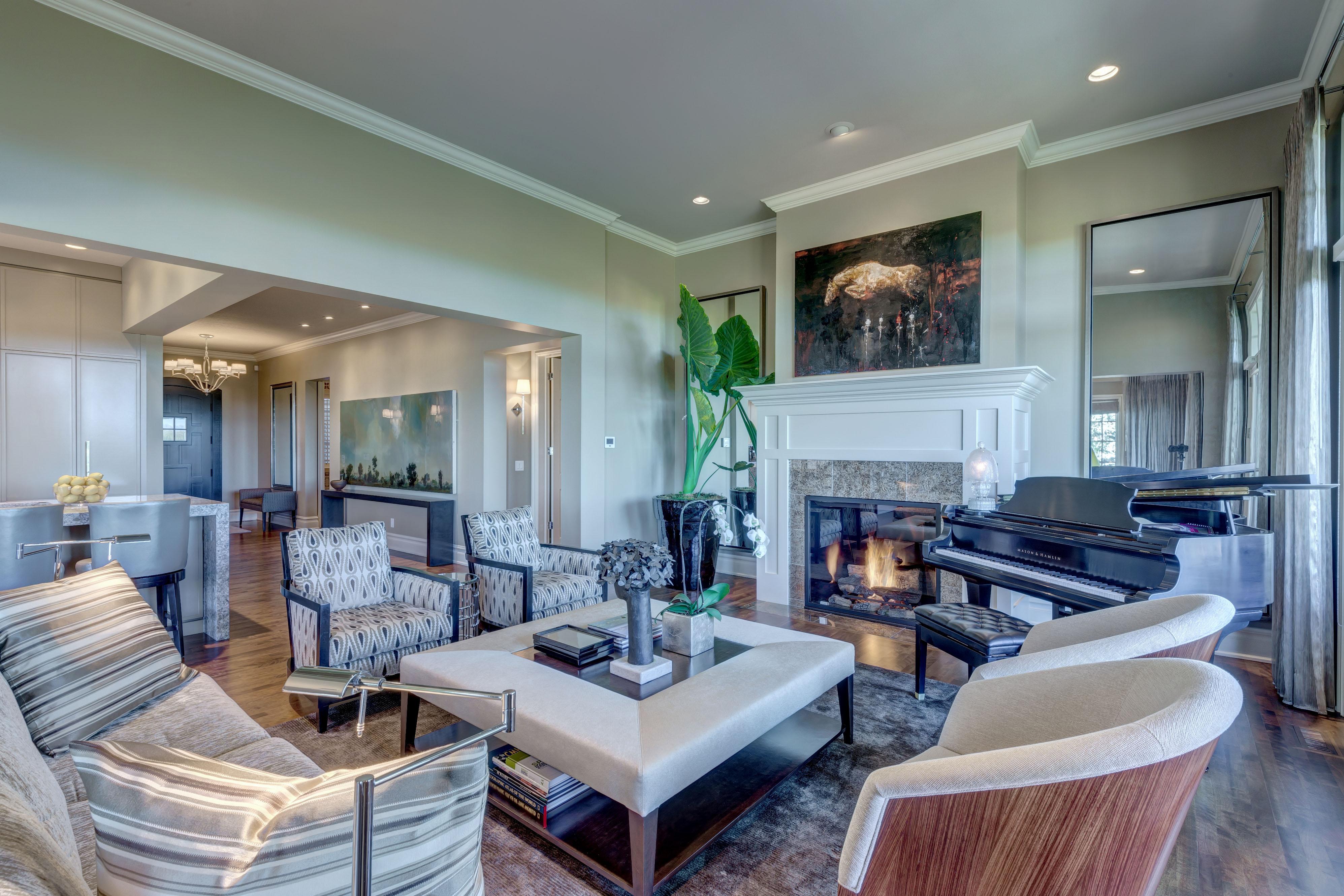Style Developments Luxury Living Room in Calgary Alberta