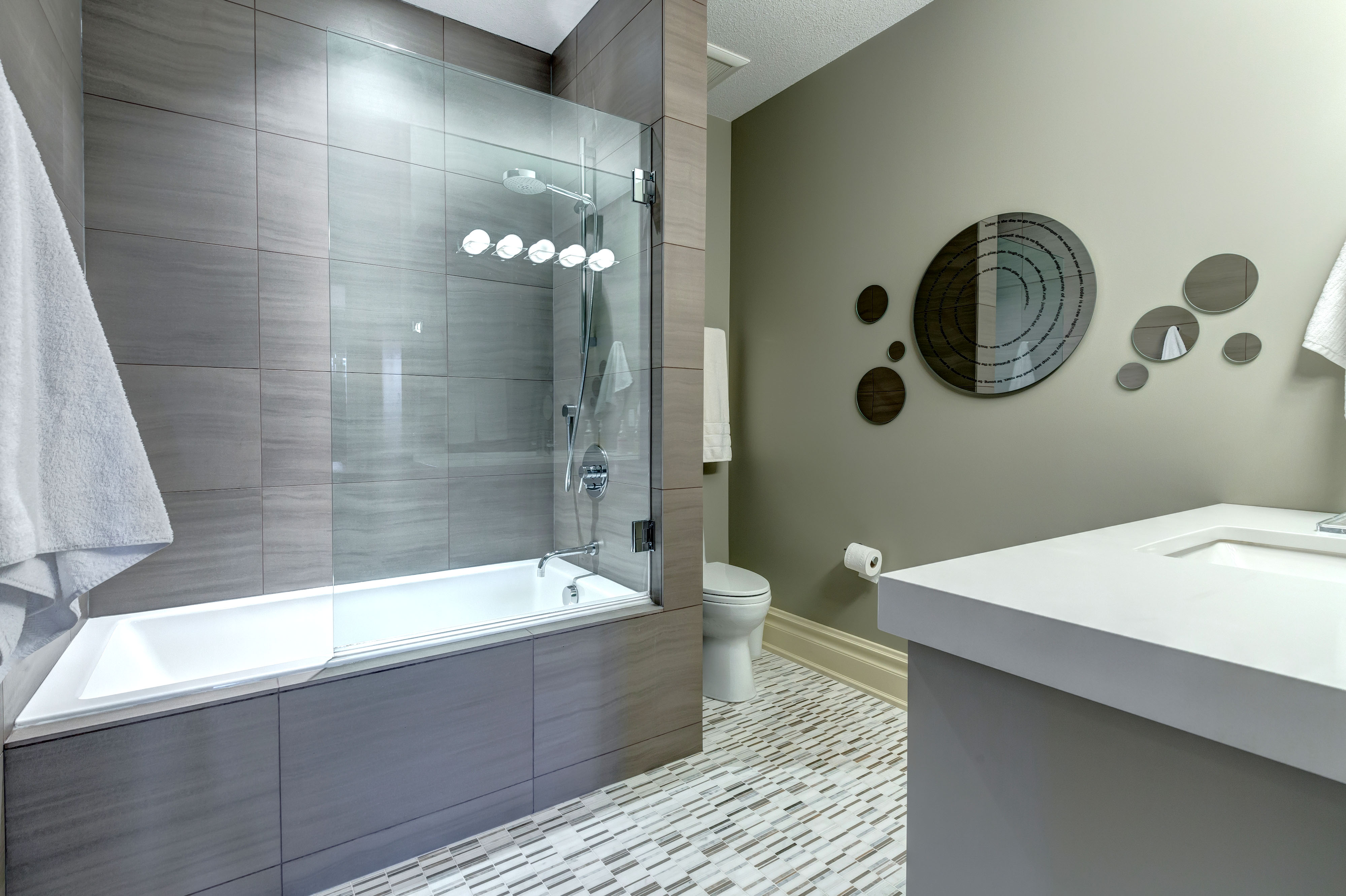 Minimalist Luxury Bathroom Renovation by Style Developments in Calgary Alberta