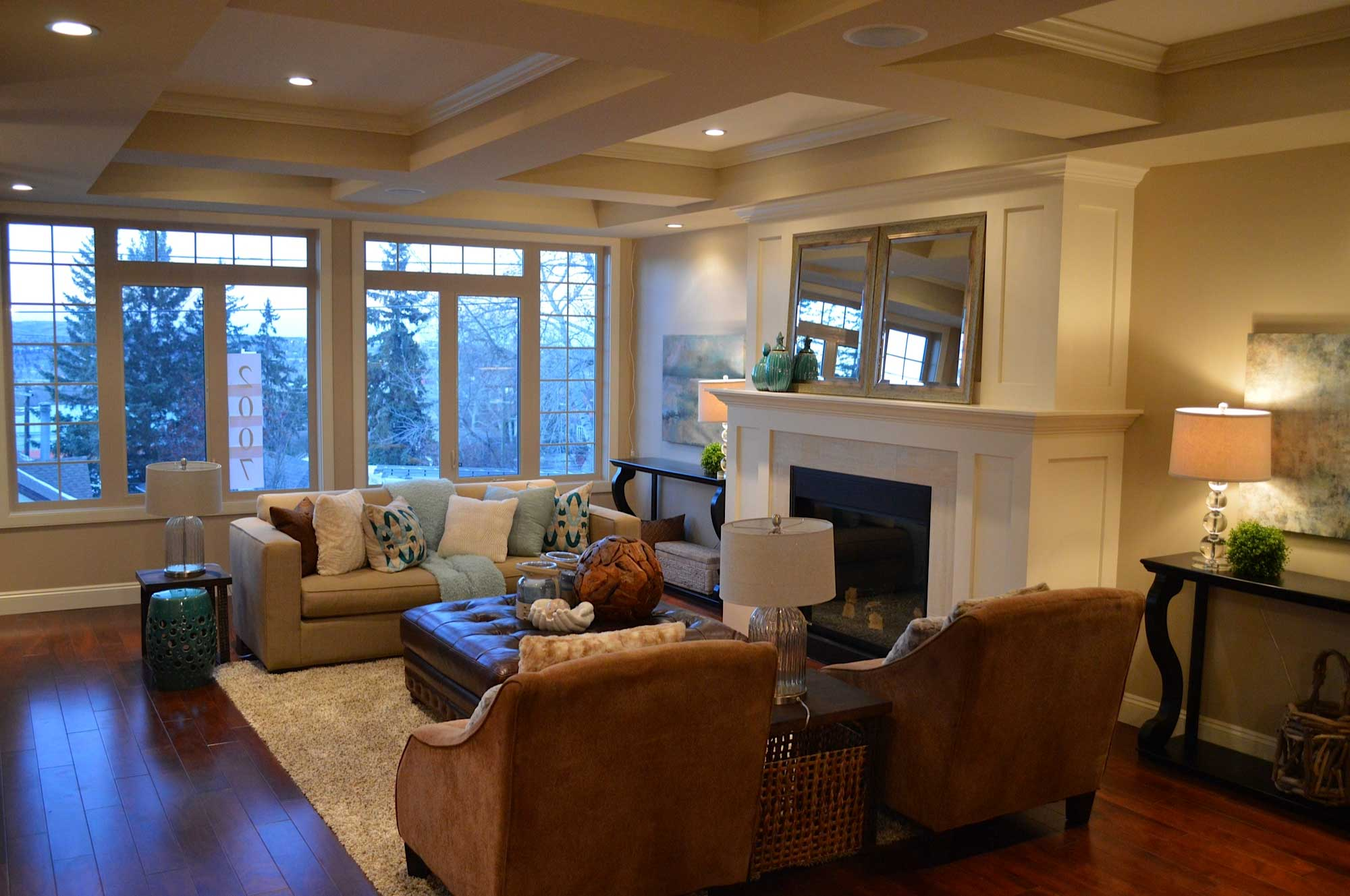 Duplex family room remodel by Style Developments in Calgary Alberta