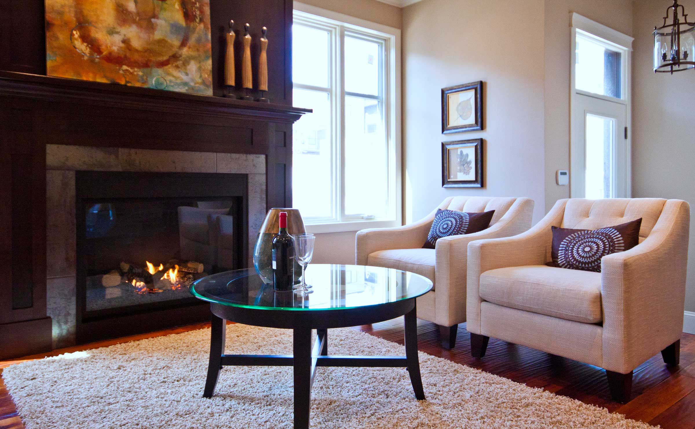 Duplex living room remodel by Style Developments in Calgary Alberta
