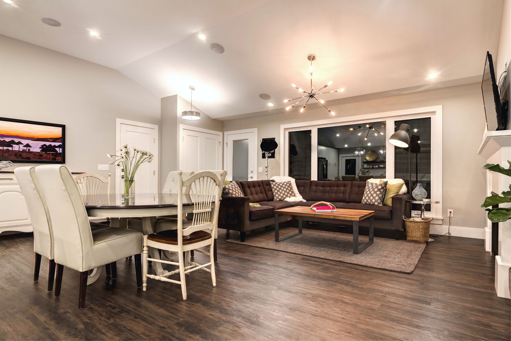 Living Room with Hardwood Floors remodel by Style Developments in Calgary Alberta