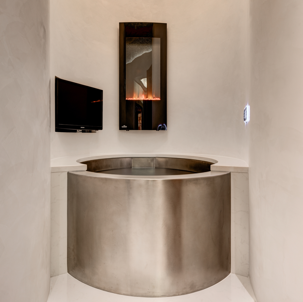 Style Developments Bathroom Remodel with a Stainless Steele Tub